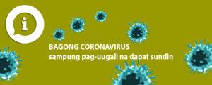 traduzione lingua filippina decalogo coronavirus