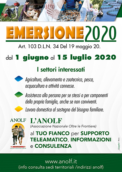 Manifesto ANOLF su Emersione 2020